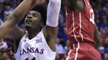 No. 1 Kansas rallies to beat Oklahoma 73-63 on Senior Night