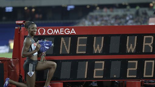 An American track star who isn't going to Rio sets world record in London