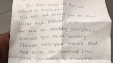 Falcons WR Mohamed Sanu got a surprise note from a family who shared his flight