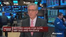 Dow zooms 100 points higher as Trump rally continues; financials lead