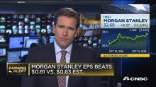 Morgan Stanley roars to big quarter on trading surge; shares higher