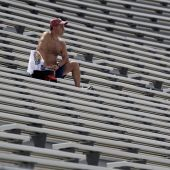 Jarring photos show just how empty the stands were for NASCAR's Brickyard 400