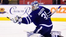 Leafs' playoff push hits snag as Andersen suffers mysterious injury