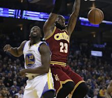 Green fouls LeBron, appears to mock him for flopping