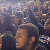 Eastern Michigan students protest campus racism during Eagles' win over Wyoming
