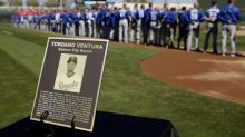Royals and Rangers pay tribute to Yordano Ventura before spring opener