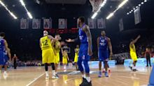 Ex-Hawk Pero Antic gets excited, rocks EuroLeague teammate in the face