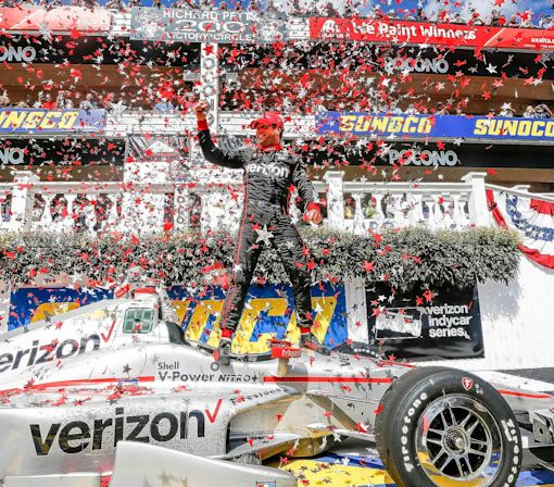 Power Closes in on Pagenaud with Pocono IndyCar Win