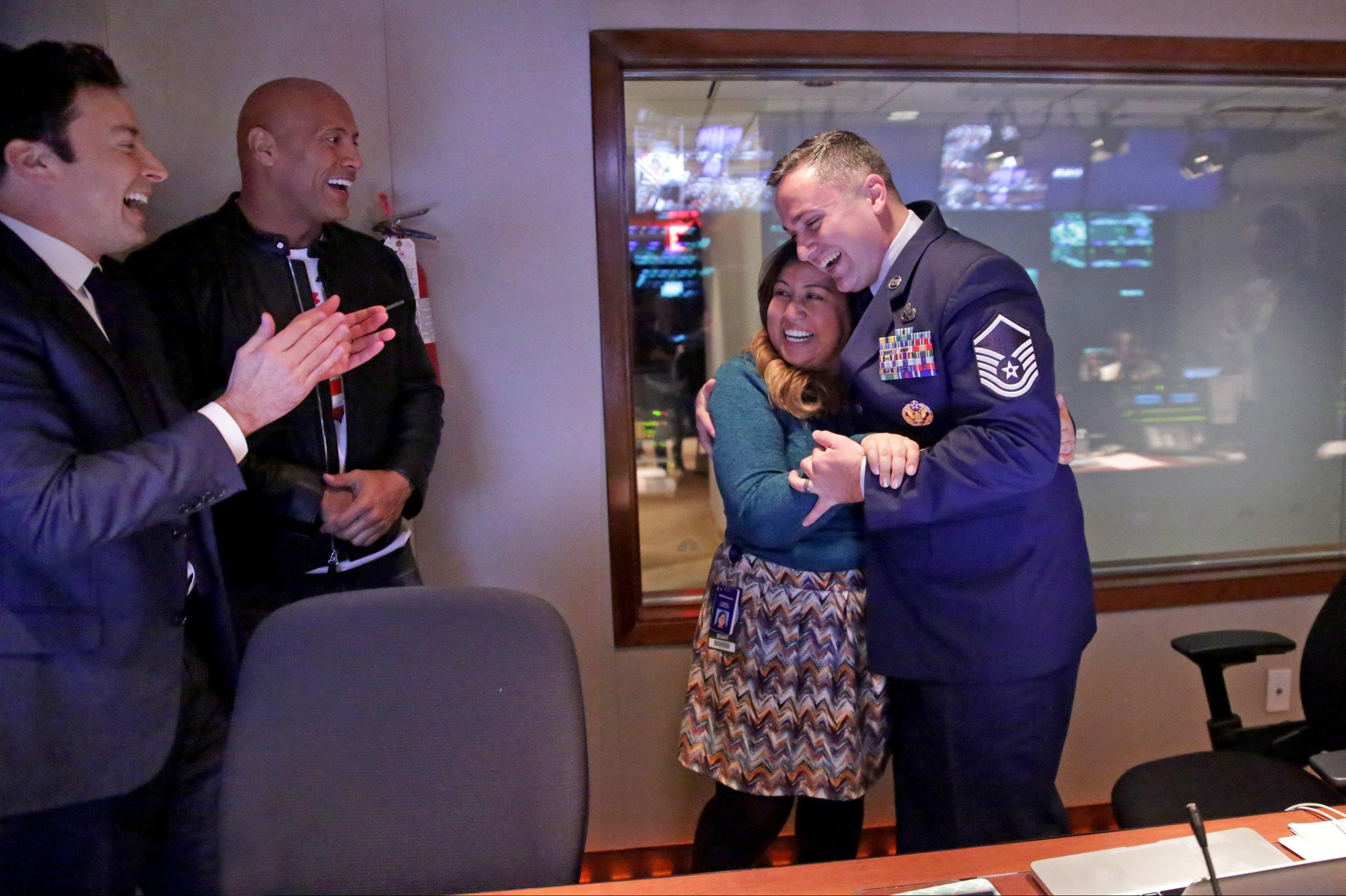 Watch Jimmy Fallon and Dwayne Johnson's Moving Surprise for a Military Family