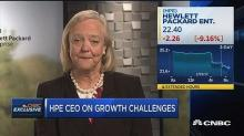 Meg Whitman says she might have 'overloaded' HPE executives in Q1