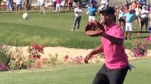 Watch: Tiger Woods Plays Catch With Roger Clemens
