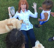 Kathy Griffin Babysits Kim and Kanye's Kids Saint and North West — and Grandma Kris Jenner Approves