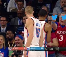 The 76ers fan who flipped off Russell Westbrook is sorry, but says Russ provoked him