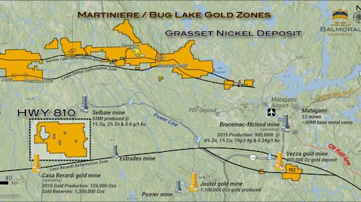 Balmoral Acquires New Gold Project in West Central Quebec