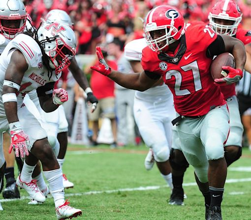 UGA's Nick Chubb reportedly out with injury vs. Tennessee, making a tough matchup even harder