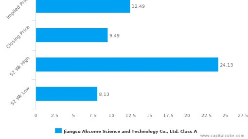 Jiangsu Akcome Science & Technology Co., Ltd. : Undervalued relative to peers, but don't ignore the other factors