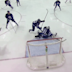 Jets goaltender stretches out for stick save on wide open net