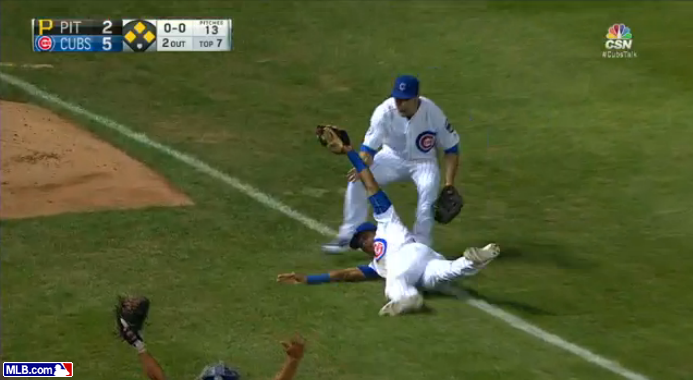 Addison Russell shows off hustle with phenomenal run-saving grab