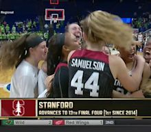 NCAA women's basketball tournament scores: Stanford overcomes 16-point deficit against Notre Dame to advance to Final Four