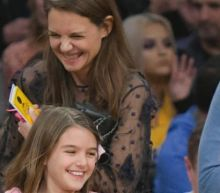 Katie Holmes and Suri Cruise Can't Stop Smiling at L.A. Lakers Game