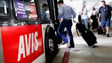 Tumbling Avis shares lead in dragging down Dow Transports
