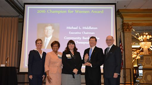 Michael L. Middleton Wins Champion for Women Award at the 2016 Annual Maryland Bankers Association Conference